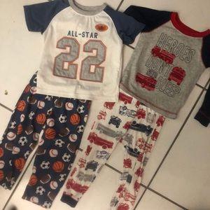 Bundle of Carter's Size 3T Boys Pajamas